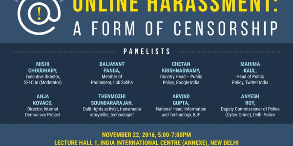 Online Harassment Report Release Event Poster